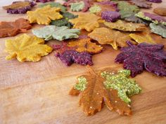 Absolutely stunning. I am left breathless after viewing the passion and ingenuity of this post. What a beautiful labor of love. Like raw stained glass treats!! Golubka: Maple Leaf Snack Bars