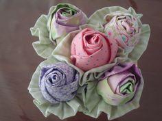 Flores de pano - ideias