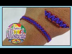 PUNTADA EN ZIC-ZAC MANILLAS EN MOSTACILLA - YouTube Beading Tutorials, Beading Patterns, Beaded Bracelet, Color Combinations, Crafts For Kids, Jewels, Beads, Videos, Gifts
