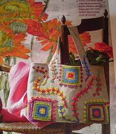Crochet decorated bag from Marie Claire Ideas