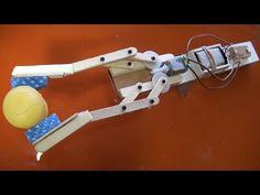 Brazo robótico mecánico fácil de hacer - YouTube