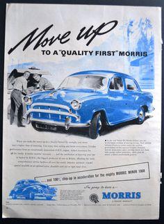 Vintage Ads, Vintage Prints, Vintage Posters, Morris Oxford, British Car, Morris Minor, Car Posters, Car Advertising, First Car