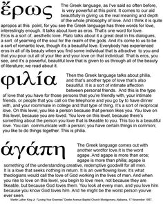 Greek For Kinds Of Love