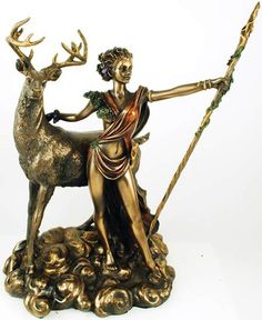#pagan #wicca #witchcraft #celtic #druid #tarot Diana Statue $68.95