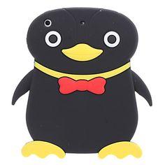 Lovely Black Penguin Design Soft Silicon Case Cover for iPad Mini - iPad Mini Case