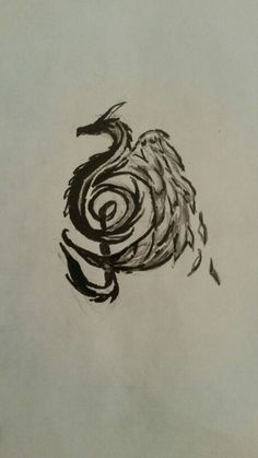Dragon Music Note Drawing
