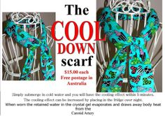The COOL DOWN Scarf by BURPbabycouture on Etsy, $15.00