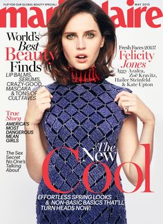 Felicity Jones on Marie Claire May 2015 Cover