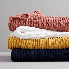 Inspired by sweaters seen on the runway, insanely soft chenille makes for the perfect layering piece, and our Chenille Rib Throw is no exception. A lightweight and super cozy layer to the sofa or the bed, it comes in all your favorite colors&mdash…