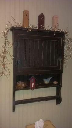 Primitive Medicine Cabinet/Spice Cupboard. via Etsy.