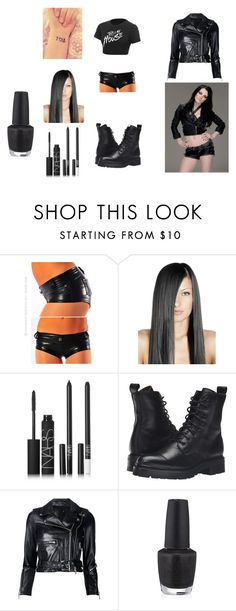"""WWE Paige"" by slaybeauty101 ❤ liked on Polyvore featuring NARS Cosmetics, Frye, R13 and OPI"