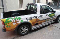 Vehicle branding done for Campworld Bushwackers