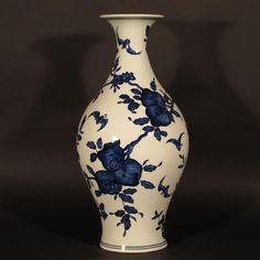 Vases Asian Antiques Straightforward Antique Chinese Porcelain Table Vase Jarlet Signed Hand Painted Enamel Birds