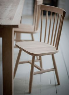 Spindle Back Chair - Raw Oak