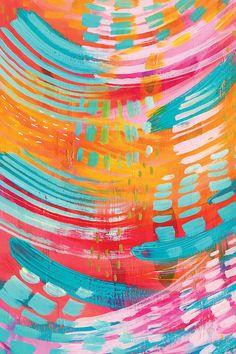 Abstract Desktop Backgrounds, Colorful Backgrounds, Colorful Artwork, Painting Inspiration, Art Inspo, Canvas Artwork, Illustration Art, Art Prints, Abstract Art For Kids