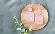 Art deco powder pink earrings Statement modern lightweight | Etsy Pink Earrings, Statement Earrings, Gifts For Nature Lovers, Leaf Pendant, Powder Pink, Minimalist Earrings, Beautiful Gift Boxes, Polymer Clay Earrings, Gift For Lover