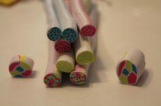 El blog de Nai: Nuevo tutorial de fimo: Cañas Kaleidoscopio / Kaleidoscope canes