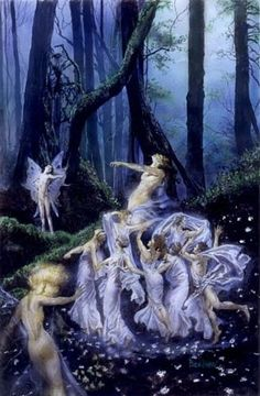 ≍ Nature's Fairy Nymphs ≍ magical elves, sprites, pixies and winged woodland faeries - Faerie Dance