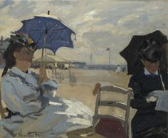 The Beach at Trouville (1870). Claude Monet (French,1840-1926). Oil on canvas. The National Gallery, London.