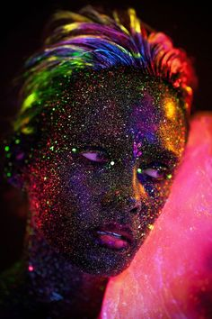 Experimental portraits with UV lighting and a rainbow of fluorescent paints   Creative Boom