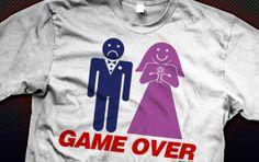 Game Over Marriage Gamer Shirt #Geek #gamer