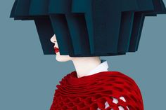 Junya Watanabe's Fall 2015 collection in photos by Erik Madigan Heck edited to be flat & one dimensional to complement the graphic nature of the collection.