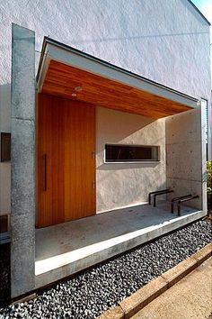 建筑 Nail Art d nail artist Modern Entrance Door, House Entrance, Entrance Doors, Small Buildings, House Landscape, Concrete Design, Industrial House, Winter House, Architect Design