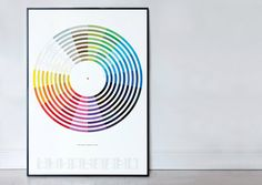 """The Colour of Popular Music - """"names of 154 bands (and artists) with a colour in their title. From the obvious Black Sabbath, Pink Floyd, Deep Purple, Blondie, King Crimson and The white Stripes to the more obscure (but not forgotten) Silver Apples, Black Flag, The Red House Painters, and The Green Telescope…"""" (5 colour litho print) http://www.wearedorothy.com"""