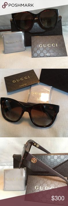 Brand New Women's Gucci Cat-Eye Sunglasses Never worn. Brand new with all tags and packaging. Just got them in the mail today. I personally don't like the way they look on my shape face. Negotiable price. Gucci Accessories Glasses