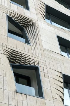 SETUP Architecture Studio led by Iranian architect & design researcher Sina Mostafavi has completed ''Softstone'' a mid-rise office building that located in Tehran,Iran. Softstone is a mid-rise buildi Modern Office Building, Office Building Architecture, Parametric Architecture, Building Facade, Facade Architecture, Building Design, Amazing Architecture, Contemporary Architecture, Residential Architecture