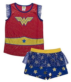 Shop for Big Girl's Wonder Woman Glitter Crest Pajama Short Set - Blured - at best price, a large range of designer Girls' Pajama Sets discount sale. Cheap Girls Clothes, Wonder Woman Birthday, Dc Comics Girls, Girls Pjs, Mighty Girl, Cotton Pjs, Toddler Leggings, Wonder Woman Logo, Capes For Women