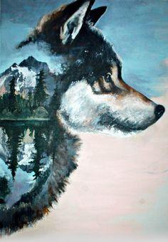 Wolf+ reflection (WIP - updated) by LAananna on DeviantArt