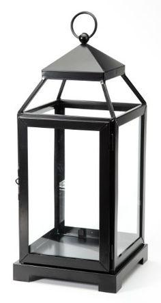 Amazon.com - M2CBridge Metal-Coated Garden Candle Lantern Holder Candleholder with Windowpane -Black (17.5 Inch) - Decorative Candle Lanterns