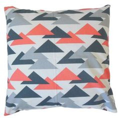 "The Pillow Collection Wyome Cotton Throw Pillow Color: Salmon, Size: 20"" x 20"""