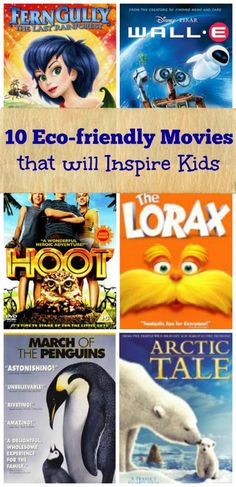 10 outstanding movies that will introduce kids to environmental issues & eco-friendly behaviors!