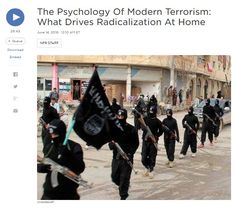 The Psychology Of Modern Terrorism: What Drives Radicalization At Home [NPR audio 26:43]