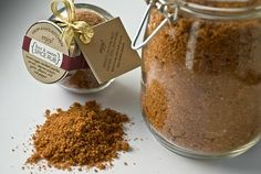 see also: http://www.theyummylife.com/dry_rub_mix  Spice Rub  Adapted from At Hoc At Home by Thomas Keller Makes about eight ½-cup servings  1 cup dark brown sugar 3 tablespoons fine sea salt 3 teaspoons smoked paprika ½ teaspoon cayenne pepper (up to 1 teaspoon for extra heat) 2 teaspoons granulated garlic 1 teaspoon ground allspice 1 teaspoon red pepper flakes