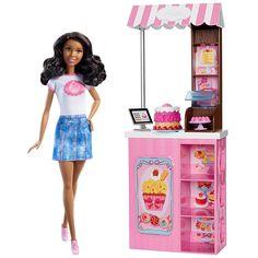 Barbie® Bakery Owner Doll & Playset - African American | DMM43 | Barbie