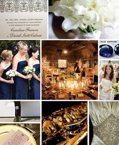 Wedding, White, Blue, Inspiration, Board, Navy
