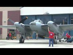 de Havilland Mosquito Start Up, Warbirds Over The Beach 2013 - YouTube