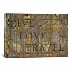 Live Love Travel Canvas Print