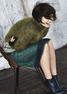 how to wear green this fall
