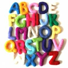 Free Printable Needle Felted Alphabet poster created by My Poppet.
