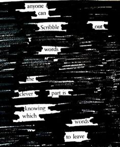 SmallWorld: Putting Pinterest to Use: Newspaper Blackout Poems