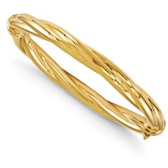 Italian 14k Gold Polished Twisted Hinged Bangle. Made in ITALY. Arrives ready for gifting. Free gift packaging included. Shop with confidence. West Coast Jewelry has been a trusted seller for over 8 years and is dedicated to excellent customer service. Your satisfaction is 100% guaranteed.