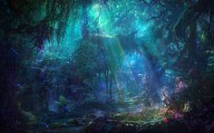 Anzeigen, Herunterladen, kommentieren und bewerten diese 1920x1200 Enchanting forest  Wallpaper - Wallpaper Abyss