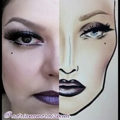 My work @adrianamoraismua professional instagram Mac Face Charts, Makeup Charts, Professional Makeup Artist, The Make, Halloween Face Makeup, Instagram, Make Up
