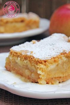 Apple Tart Recipe, Apple Cake Recipes, Baking Recipes, Dessert Recipes, Polish Desserts, Polish Recipes, Carrot Cake Cheesecake, Breakfast Menu, International Recipes