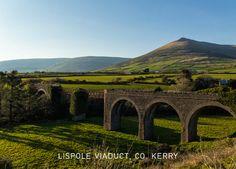 Lispole Viaduct, Ireland, Co. Landscape Photos, Landscape Photography, Irish Greetings, Places Of Interest, Get Excited, Dublin, Ireland, Trail, Mountains