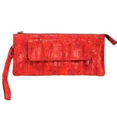 Women's Evening Handbags - Millicent Amazonia Top Zip Clutch Color Red *** Check this awesome product by going to the link at the image.